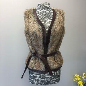 Yvonne Le Marie Faux Fur Vest